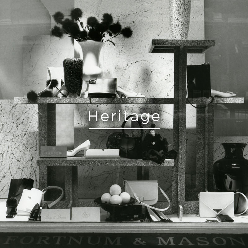Launer heritage Fortnum and Mason windows