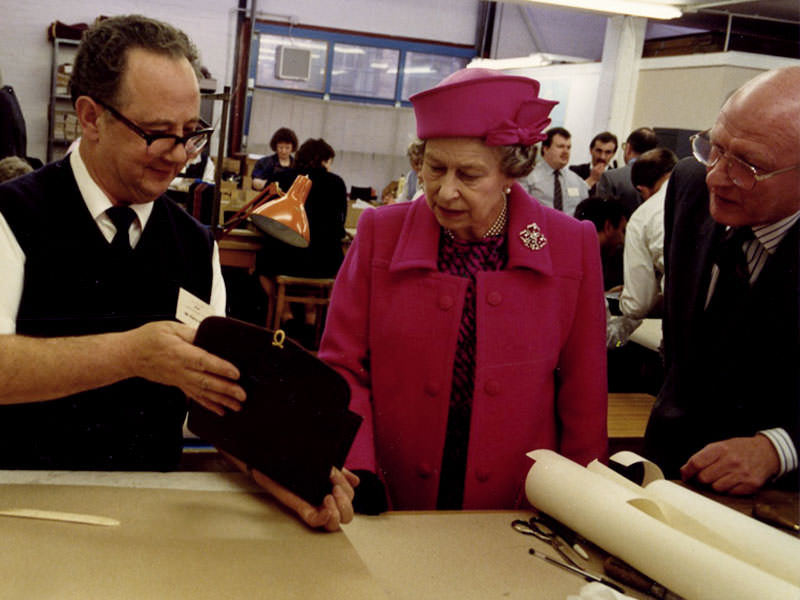 Her Majesty The Queen visiting Launer in 1992